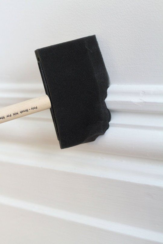 Sponge brushes are great for cleaning molding!