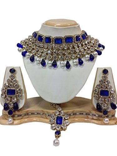 Indian Beautiful Style Gold Plated Royal Blue Stones Pear... https://www.amazon.com/dp/B01KBU4PSG/ref=cm_sw_r_pi_dp_x_2yZDzbZGKKT9H