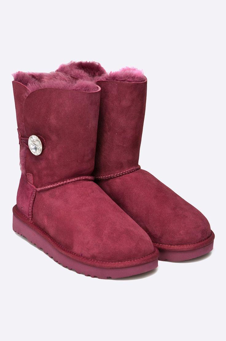 Čižmy a členkové topánky Členkové topánky  - UGG - Topánky Bailey Button