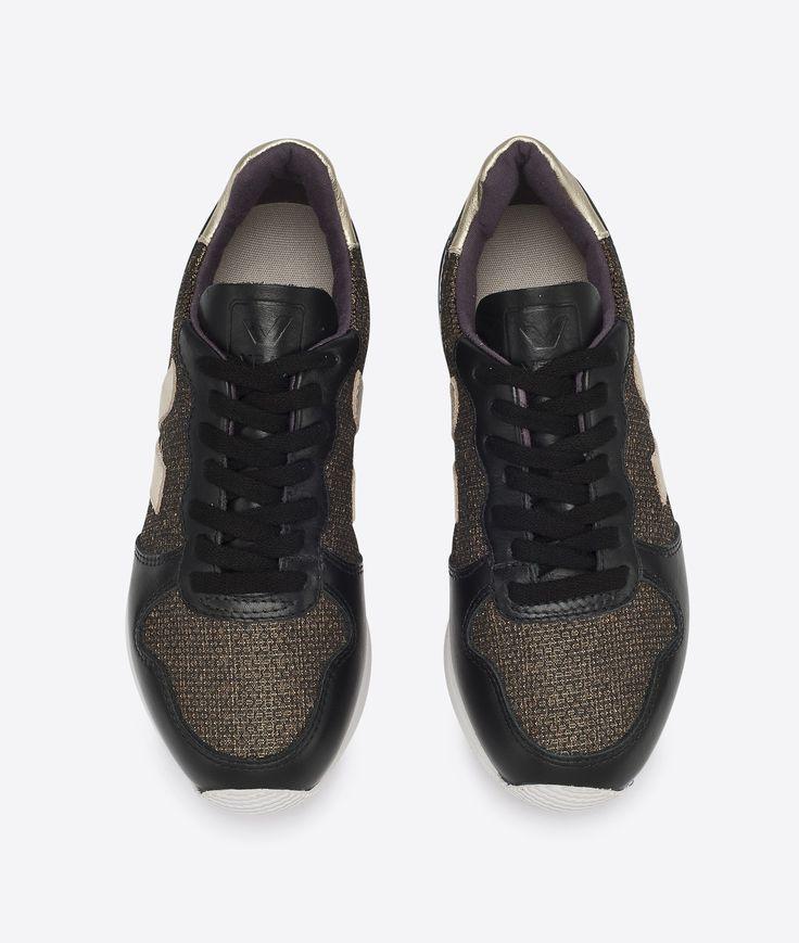 Veja Holiday Low Top Lurex Gold Black Gold 37 • Schuhe Faire Schuhe für Damen bei glore kaufen • glore