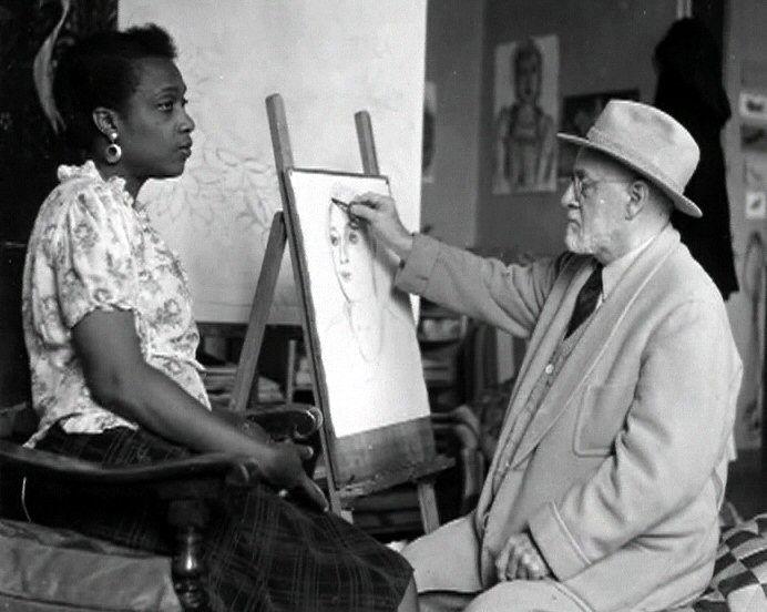 Le peintre Matisse et son modèle