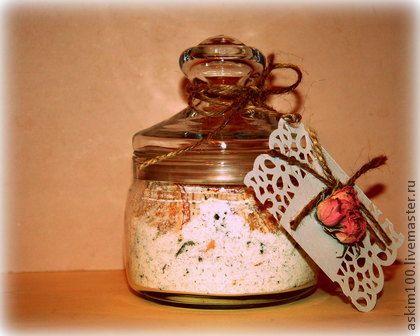 Чай для ванны с эфирными маслами и сливками - белый,соль для ванны,соль для ванн