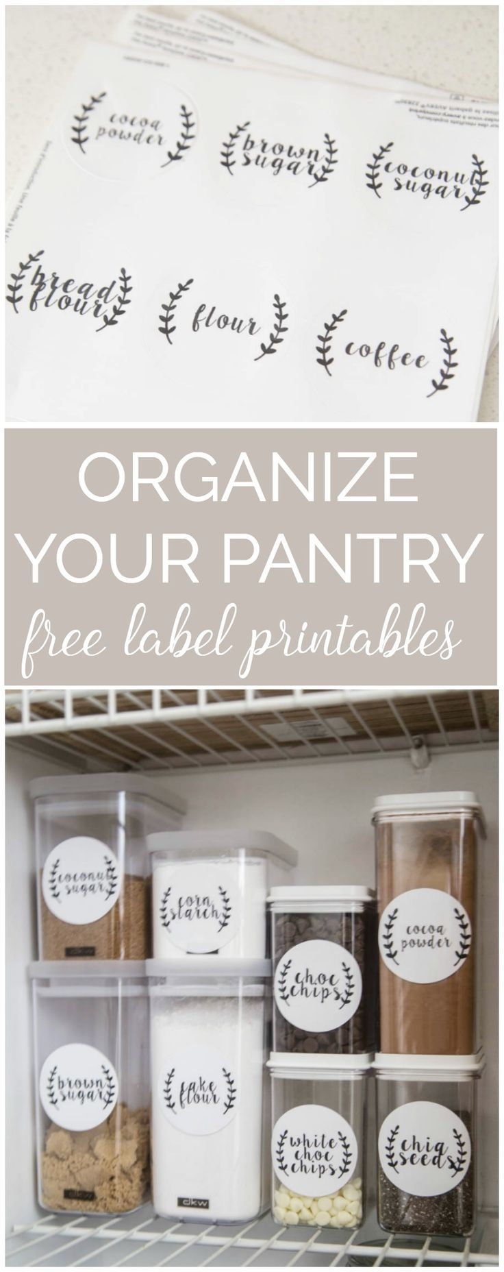 151 best pantry ideas organization storage decor images on organize your pantry once and for all with these free pantry label printables workwithnaturefo