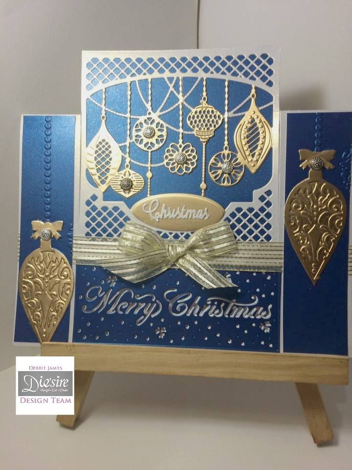 Created with Die'sire #festive Create-a-Card dies from #crafterscompanion #winter #christmas #holiday