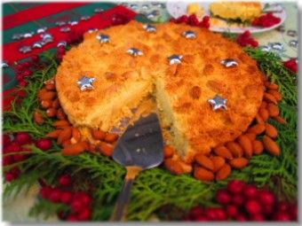 Italian almond pie