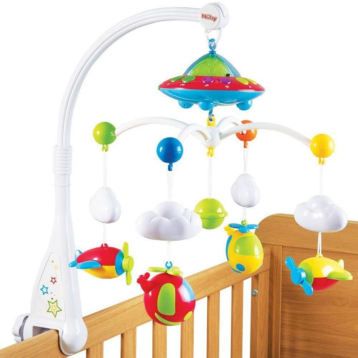 Baby Musical Cot Mobile 18 Minutes Aircrafts Clouds Lullabies Babies Kids Toys