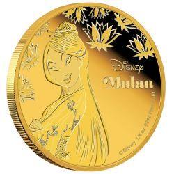 Disney Princess - Mulan 2016 1/4oz Gold Proof Coin | The Perth Mint