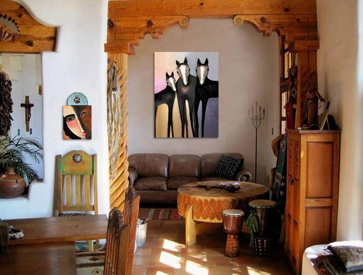 Artwork of Virginia Maria Romero in home