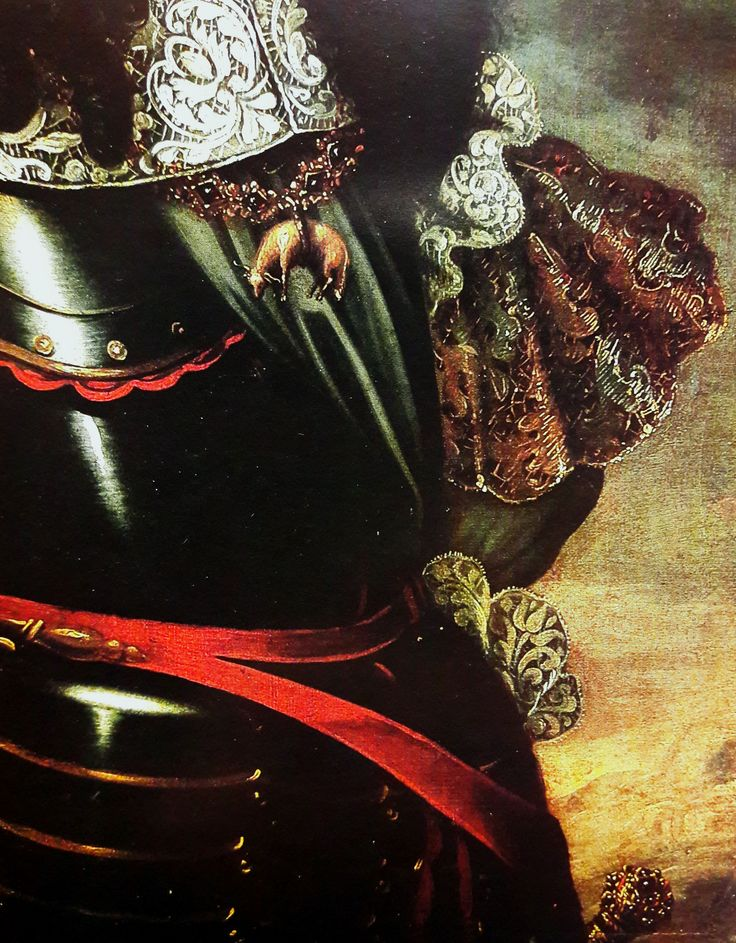 Detail of portrait of Michael Korybut Wiśniowiecki by circle of Daniel Schultz, ca. 1670 (PD-art/old), Lviv National Art Gallery