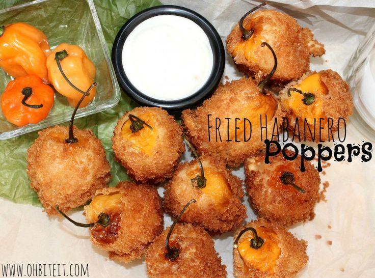 ~Fried Habanero Poppers!! I can only imagine the heat and crunch and taste!