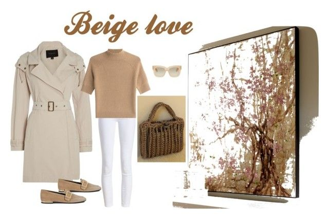Beige love by mariliart on Polyvore featuring Theory, Andrew Marc, Barbour, Roger Vivier and Acne Studios