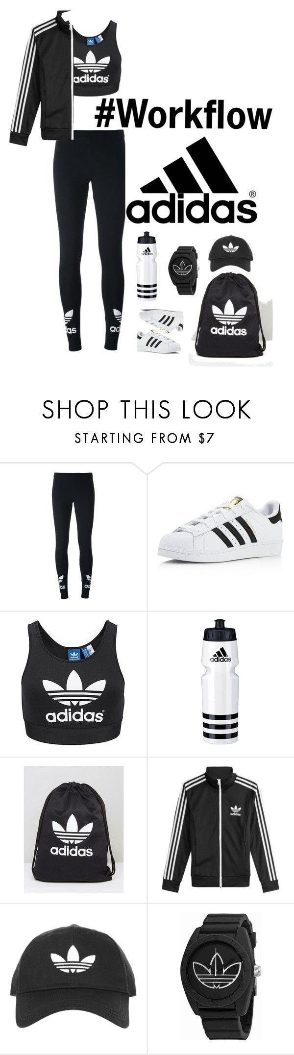 Workout #1 by monika-lopez on Polyvore featuring adidas, adidas Originals, Topshop, workout and Worflow