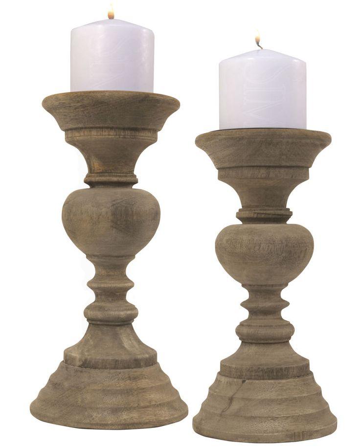 Contemporary Natural Wood Pillar Candle Holder Choice