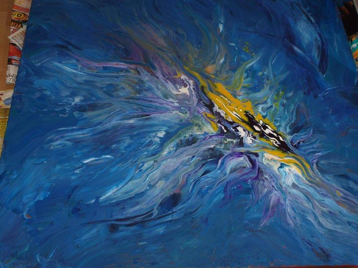 Abstract painting 100x100cm