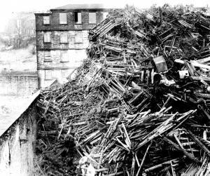 disposing of looms | Colne, Pendle, Lancashire, England, U.K.