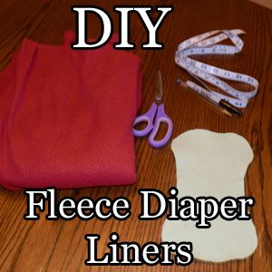 "Fleece Cloth Diaper Liners - measure the liner to be 1"" less than the diaper cover all the way around"