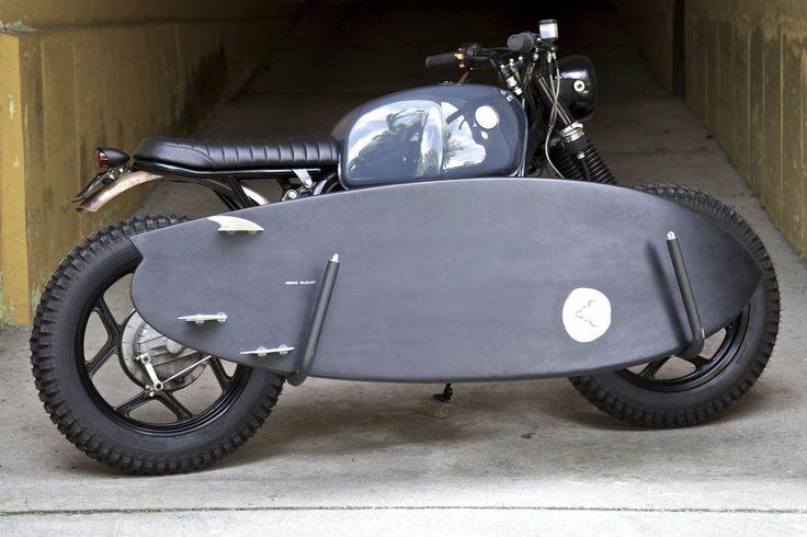 Surf Rack For Car >> Motorcycle surfboard rack   .: industrial design :.   Pinterest   Scrambler moto, Honda ...