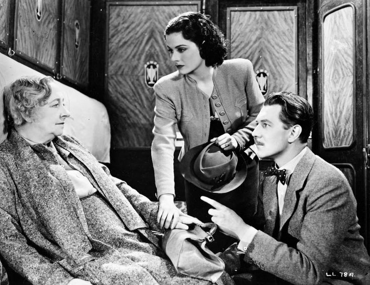 "Margaret Lockwood, Michael redgrave y may whitty en ""the lady vanishes"" (1938) de Alfred Hitchcock."