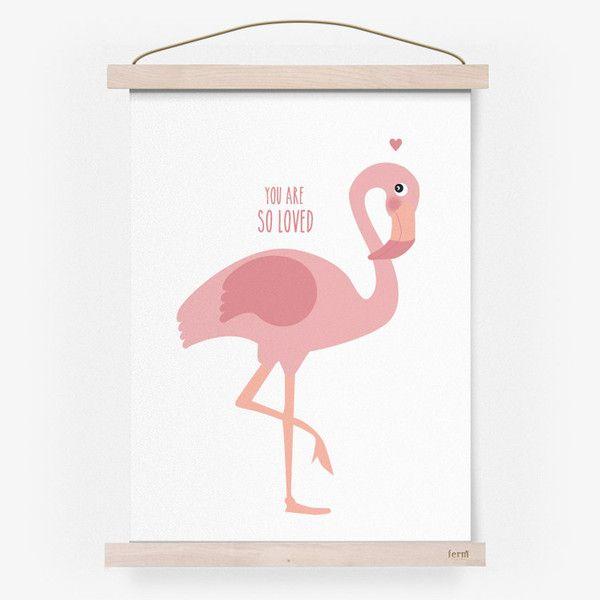 Poster van Eef Lillemor / Flamingo