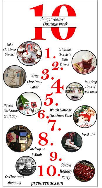 10 Things To Do Over Christmas Break