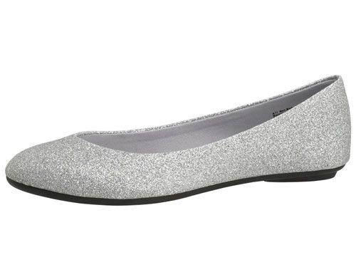 Silver glitter pumps payless
