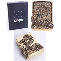 Zippo Skull Snake Coil Gold Lighter Made in USA /GENUINE and ORIGINAL PackingZippo Skull Snake Coil Gold Lighter Made in USA /GENUINE and ORIGINAL Packing