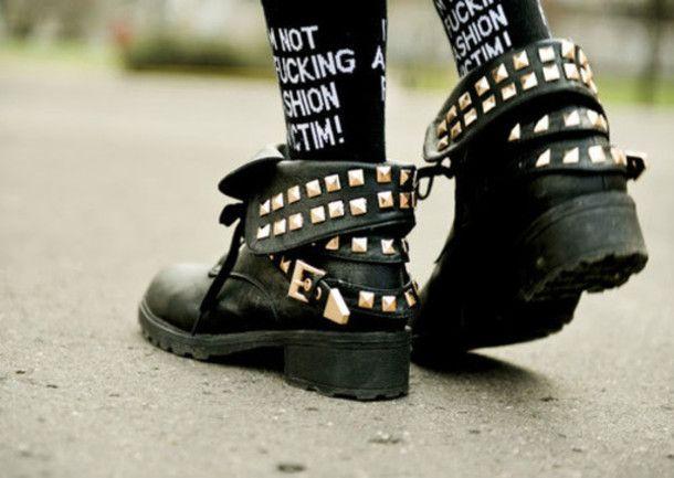 shoes boots studs punk
