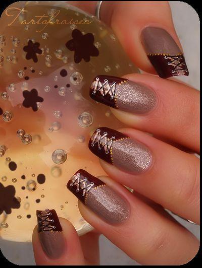 Nail Art Glamour | nail corset glamour by Tartofraises on deviantART