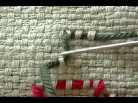 ▶ Swedish weave, Part 2b: more stitches - YouTube