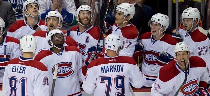 Canadien de Montréal - Watching that unbelievable Keystone Cops goal that the Canucks scored on themselves...... Oct 12