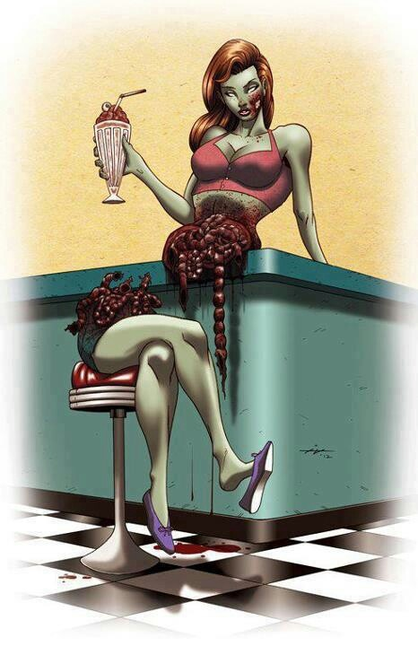 Zombie pin-up