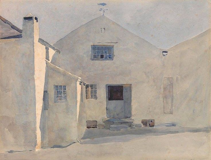 Archibald Knox (1864 — 1933, Scotland) The Kella Mill, Sulby. watercolour on paper.: