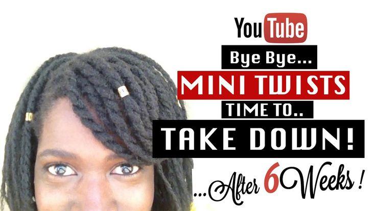 Mini Twists Take Down | Natural Hairstyles Two Strand Twist Video
