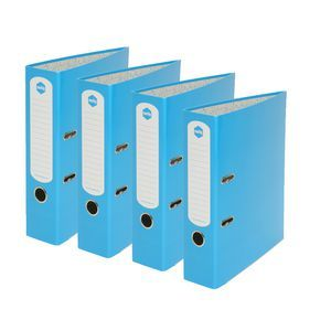 Marbig A4 Gloss Lever Arch File Blue Pk/12   Officeworks