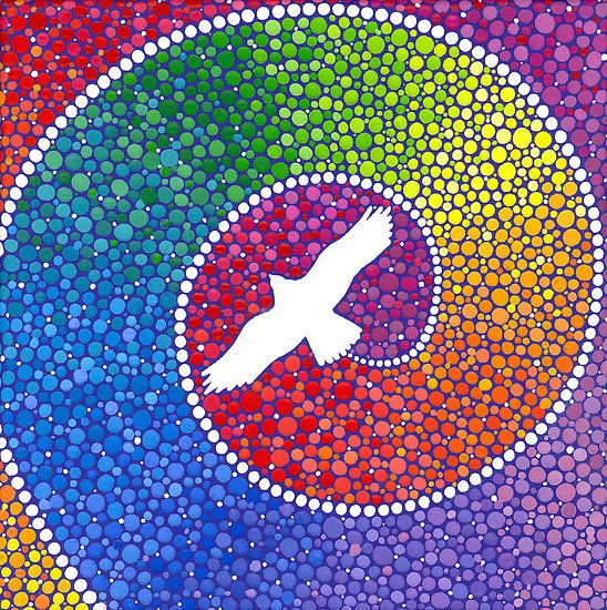 """""""Healing magic from the flight of the Eagle"""" by Elspeth McLean   *Do with bottle caps* -cn"""