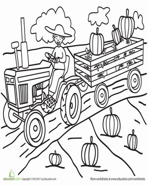 Pumpkin Patch Coloring Page Room