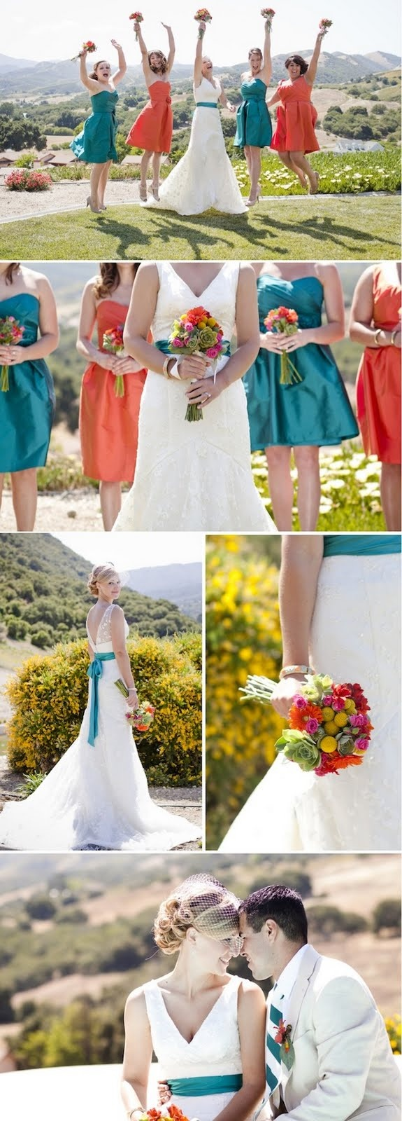 Top 17 idei despre tangerine bridesmaid dresses pe pinterest i love the two different color bridesmaid dresses and the bridee ombrellifo Choice Image