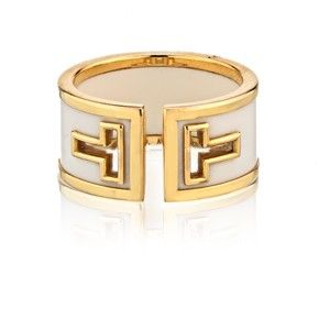 b78ca0de0 Tiffany & Co. Tiffany T Cutout White Ceramic Yellow Gold Ring 18K ...