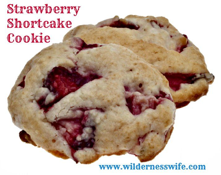 Strawberry Shortcake Cookies Recipe - The Wilderness Wife - Cooking ...