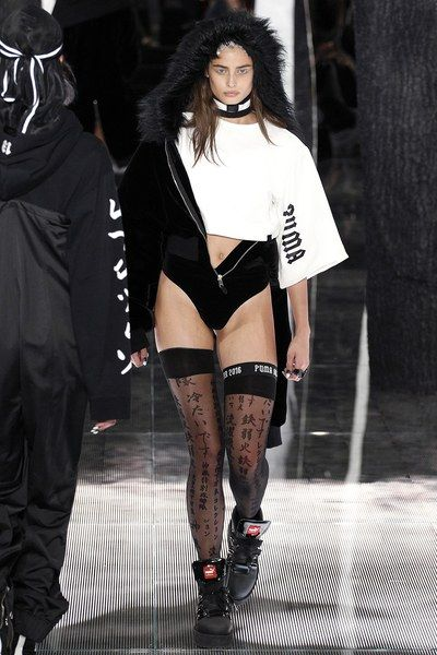Stockings!!! I friggin want. Fenty x Puma Fall 2016 Ready-to-Wear Collection Photos - Vogue