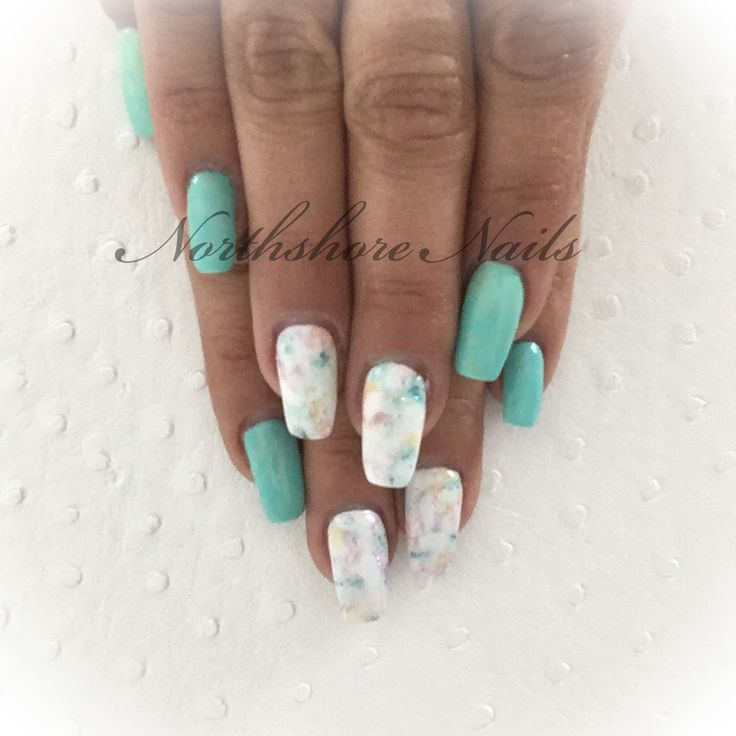 Dreaming of Spring! Soft green with watercolor features!