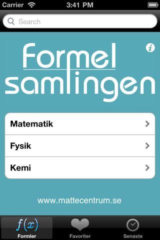 Formelsamlingen til Iphone er på svensk, men gratis. Der findes en dansk til 7 kr, der hedder formelviden. Her kan du læse om mange af matematikkens formler.