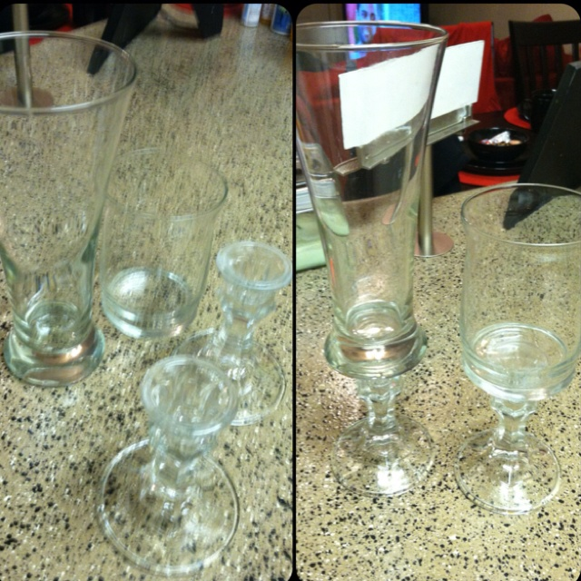 Making candle holders and candy jars for $2 each. Winning!!