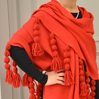 Our Milly shawl! Fantastic for Christmas party!Discover it on #http://shop.marinafinzi.com/articolo/scialle/scialle-milly-rosso/ #MadeinItaly #Christmas2015 #Natale2015