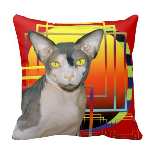 Pillow | Sphynx Kitty Cat Red