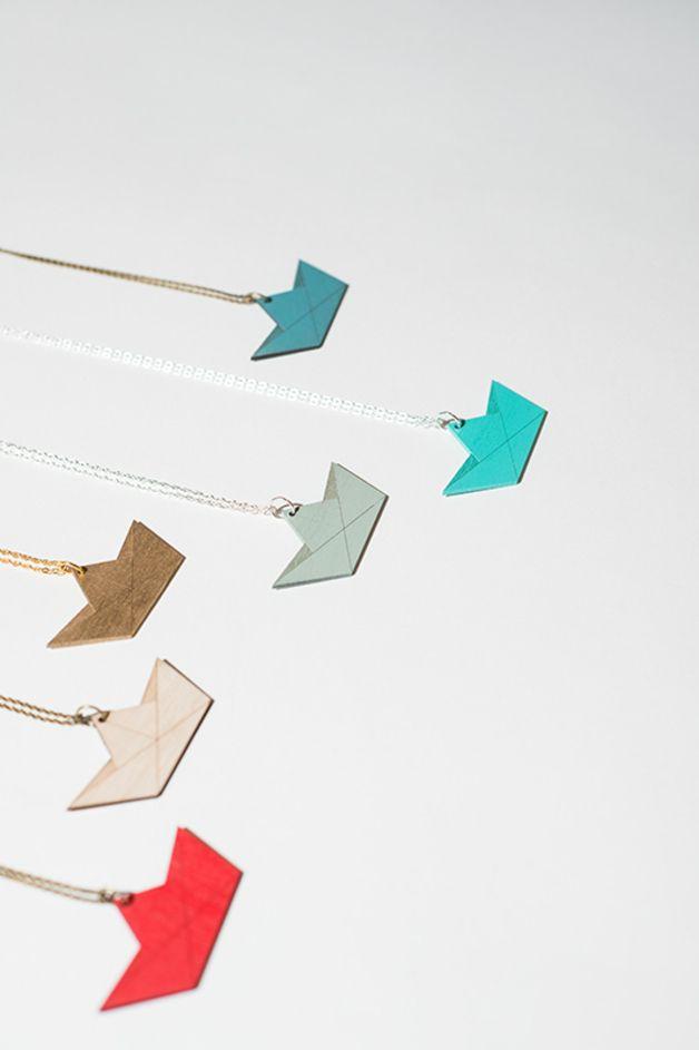 Colliers façon bateau en #origami de NiceNiceNice
