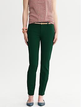 Banana Republic Sloan fit slim emerald green ankle pant #BRFall13