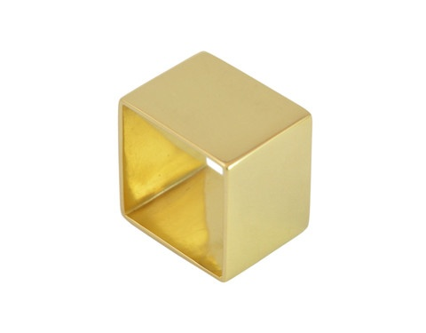 Cube Ring. Perfect 'show-off' ring for the centre finger yet surprisingly comfortable. Hand constructed solid 18k gold, not cast.
