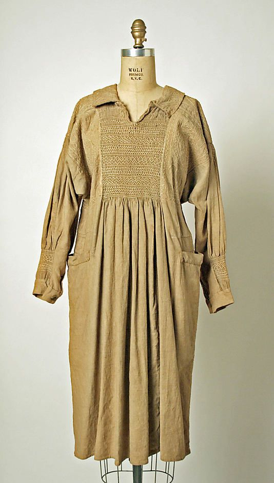 19th c smock.  (With acknowledgement to http://www.metmuseum.org/)