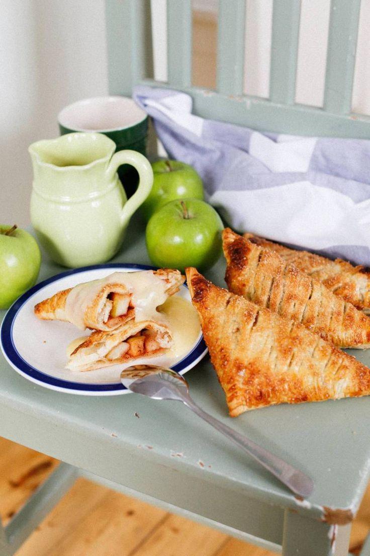 Smördegspiroger med äpple och kanel - Fredriks fika